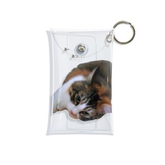 夏のネコ Mini Clear Multipurpose Case