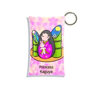 紫キャベツのネイルアート かぐや姫と月ウサギ Mini Clear Multipurpose Case