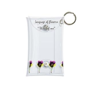 パンジーの花言葉 『私を思って』-紫黄- Mini Clear Multipurpose Case