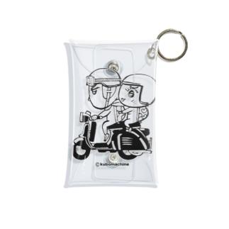 カッパつ野郎(スクーター黒) Mini Clear Multipurpose Case