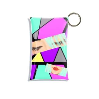 赤いくちびる💋(モザイク) Mini Clear Multipurpose Case