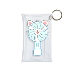 大人のためのねこ型ポータブル扇風機さん Mini Clear Multipurpose Case