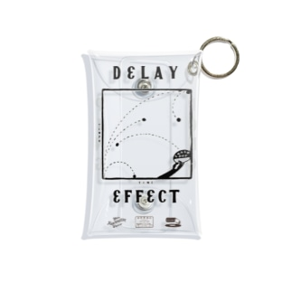 astrollage zakka official storeのDELAY EFFECT BLACK Mini Clear Multipurpose Case