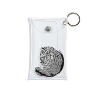 JOYFUL | Anmonyaito Cat | Positive white Mini Clear Multipurpose Case