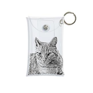 JOYFUL | Sphinx Cat | Positive white Mini Clear Multipurpose Case