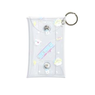 クリアマルチケース(小)_All Night!(総柄) Mini Clear Multipurpose Case