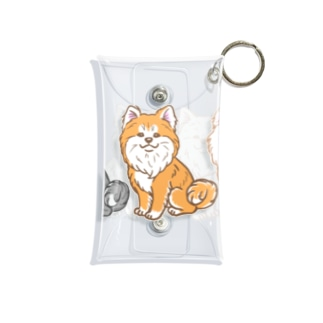 ムクムク秋田犬トリオ Mini Clear Multipurpose Case