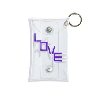 アクスタケース ペンライトLOVE purple Mini Clear Multipurpose Case