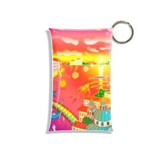 水の都と夕焼け Mini Clear Multipurpose Case