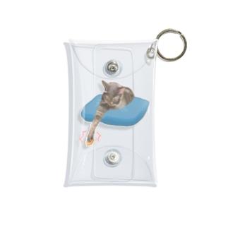 王手 猫の手 Mini Clear Multipurpose Case