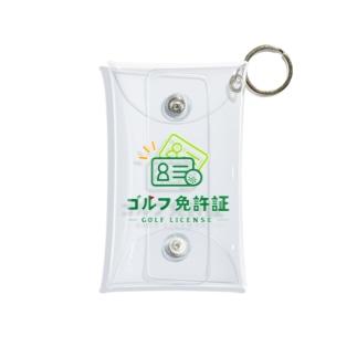 ゴルフ免許証 Mini Clear Multipurpose Case