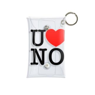 I LOVE UNO(黒文字) Mini Clear Multipurpose Case