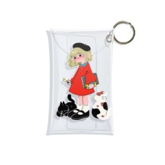 ねこちゃんと少女 Mini Clear Multipurpose Case
