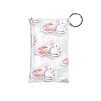 雪見うさぎがいっぱい! Mini Clear Multipurpose Case