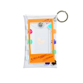 ポラロイド風 推しが尊いオレンジ Mini Clear Multipurpose Case