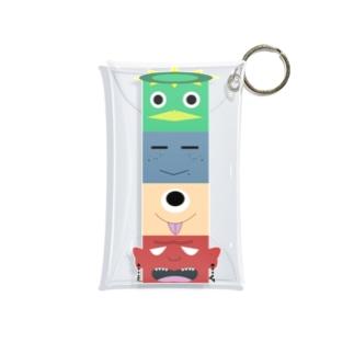 妖怪トーテムポール Mini Clear Multipurpose Case