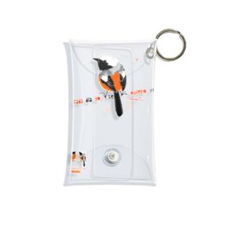 MARU ジョビとジョバ まるい小鳥 ジョウビタキ ヒタキ イラスト Mini Clear Multipurpose Case