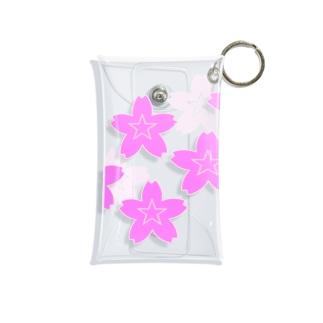 星桜紋(流れ星ピンク) Star cherry blossom Crest (Shooting star pink)) Mini Clear Multipurpose Case