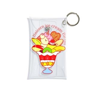 ユニコーンアイスクリームパフェ Mini Clear Multipurpose Case