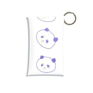 くじパンダ(Ver.背景白) Mini Clear Multipurpose Case