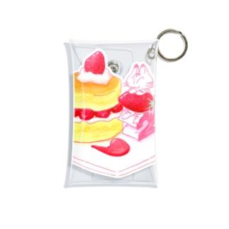 にゃんこ&食《ショートケーキの日》 Mini Clear Multipurpose Case