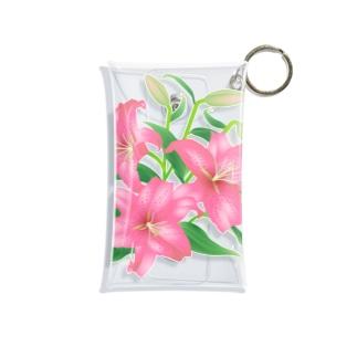 ピンクの百合 Mini Clear Multipurpose Case