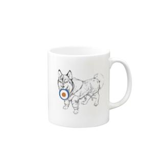 MODSハスキー犬 Mugs