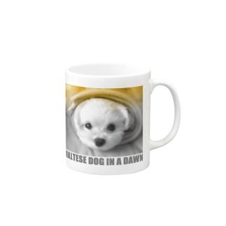 夜明けのマルチーズ14 マグカップ