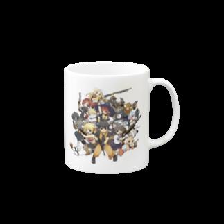 ペーパーマン公式SUZURIショップの5周年記念イラスト Mugs