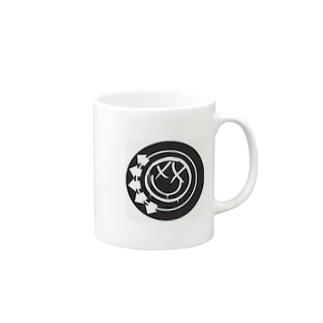black smiley Mugs