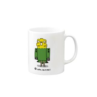 並セキセイ(緑) Mugs