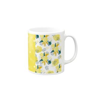yellow_flower_yellow マグカップ