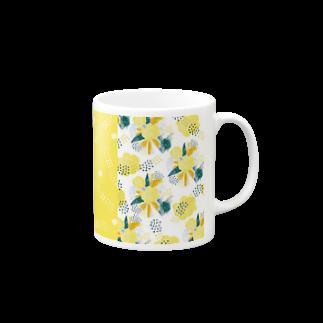hugging love +《ハギング ラブ プラス》のyellow_flower_yellow マグカップ
