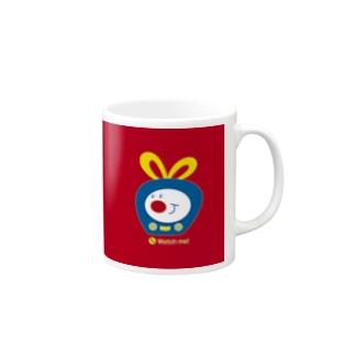 TVくん(No.1)(全面レッド) マグカップ