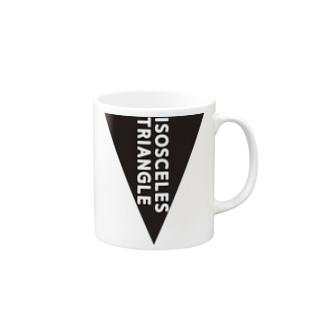 二等辺三角形 Mugs