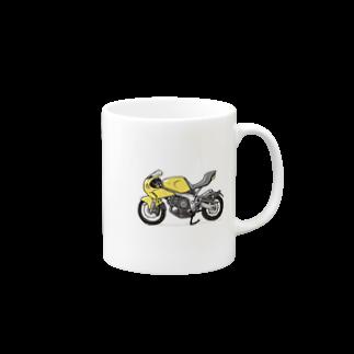 なまこの黄色いバイク Mugs