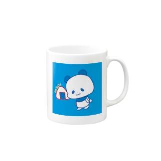 おにぎりパンダブルー Mugs