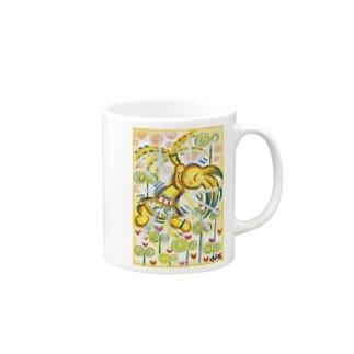 芽吹くペリ Mugs