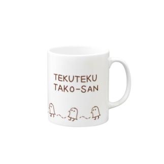 てくてくタコさん(茶) Mugs