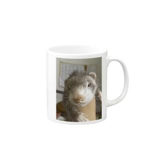 ぶそくれたフェレット Mugs