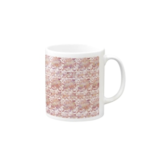 ❀花狐庵❀-HanaKoAn-の「百歳」Series * RoseFox pink Mugs