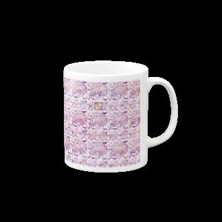 ❀花狐庵❀-HanaKoAn-の「百歳」Series * RoseFox blue Mugs