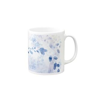 青色のツタ Mugs