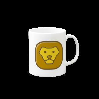 willnetのSavanna lion face マグカップ
