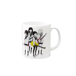 ギター&ベース女子高生 Mugs