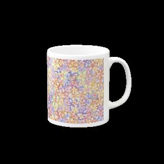 ❀花狐庵❀-HanaKoAn-の「花籠」Series * sakura-jewels blue Mugs