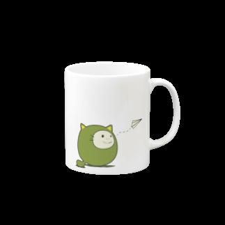Qiita:ShopのQiitan紙飛行機 Mugs
