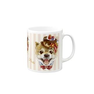 pontaくんピンクストライプ Mugs