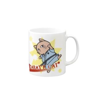 【猫郎雑貨店】KARATE CAT Mugs