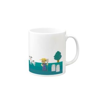 牧場の風景シリーズ Mugs